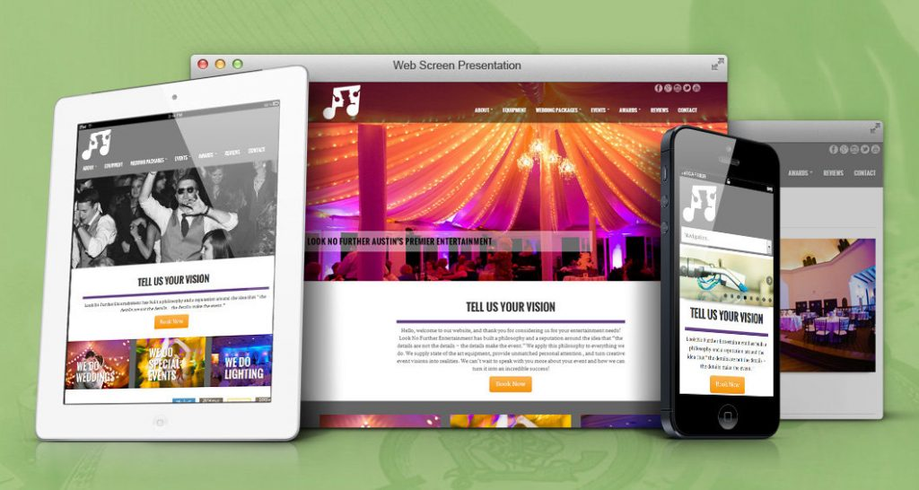 Sherwood Forest website design